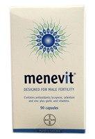 Menevit 90 pcs Desigend for male fertility contains antioxidants lycopene