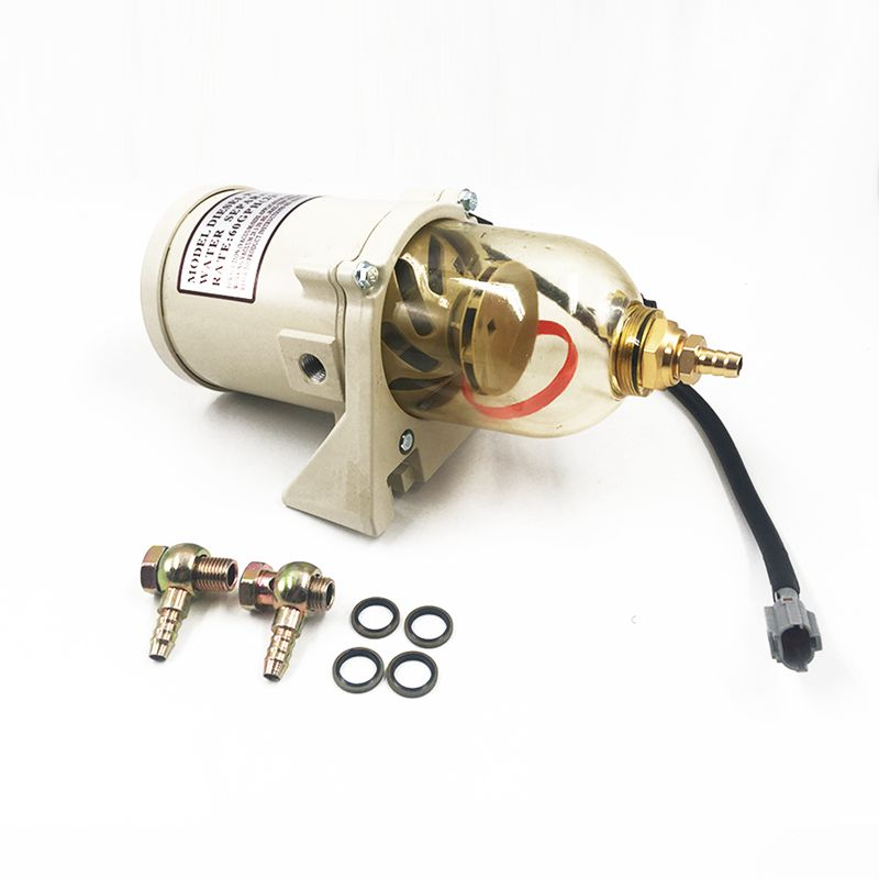 500FG 500FH Marine Engine Fuel Water Separator Filter Turbine Diesel Filter with Heating Tube and 2010PM