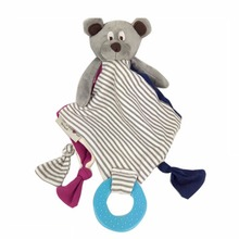 Baby Toy Bear Doll Appease Towel Doll Soft Plush Rattle With Ring Teethers Baby Juguetes – DBYC112 PT10