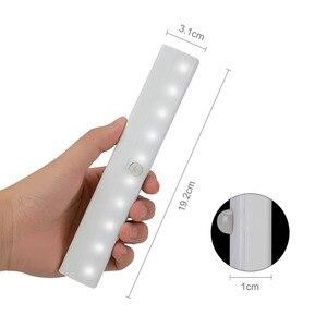 Image 2 - High Bright 10 LED IR Infrared Motion Detector Wireless Sensor Lighting Closet Night Lamp Cabinet Wardrobe Night Light