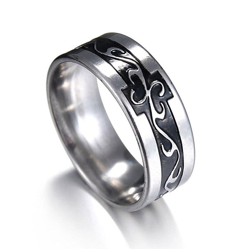 Pendatory rectángulo cuadrado anillo de moda hecho de acero inoxidable en color gris para hombre y mujeres de belleza y joyas