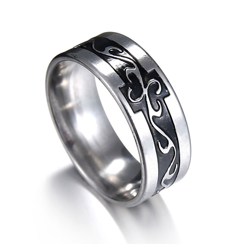 Pendatory rectangle square fashion ring made of stainless steel in gray color for both man and women Beauty and jewelry