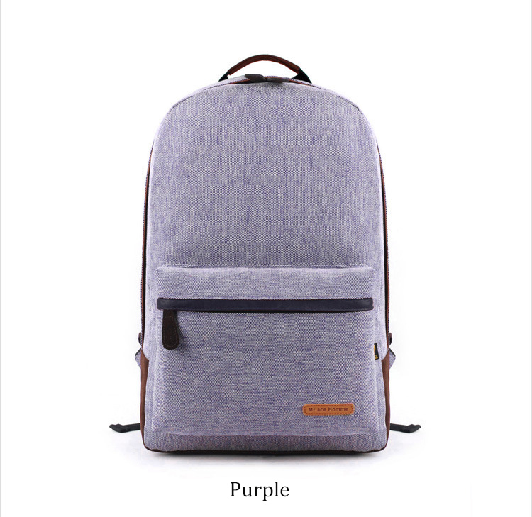 Simple canvas backpack Japan and South Korea version of the bag men s youth campus students