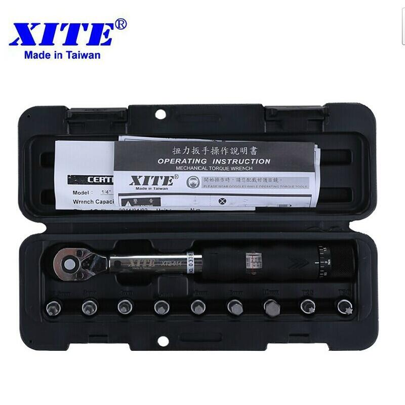 XITE Bicycle bike tools kit set tool bike repair spanner 1/4DR 2-14Nm torque wrench Bicycle Repair Tools 1-25NM 2-20NM 1 4dr 2 14nm 10 piece torque wrench bicycle bike tools kit set tool bike repair spanner hook spanner spanners