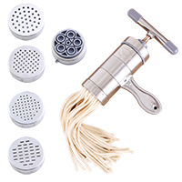 050 Kitchen Stainless Steel Manual Pasta Machine Hand Pressure Noodle Maker With 5 Models 13.8*13.5*6cm