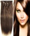 """O envio gratuito de 16 """"-32"""" 8 pcs Set #4 medium brown Cabelo Pieces Macio Indiano Remy cabelo Clipe in/on Extenions Cabelo Humano 120g 140g 160g"""