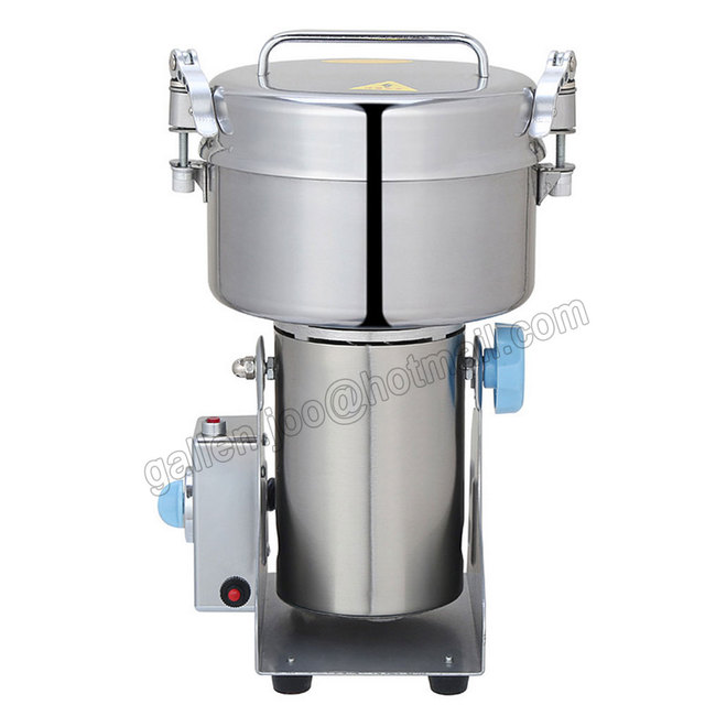 CHAGA Grinder Machine 220V/110V Commercial Electric Food Mill Powder  Machine Top 1000g Capacity Stainless
