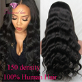 Best Indian Virgin Full Lace Human Hair Wigs Body Wave 150% Density Glueless Lace Front Human Hair Wigs For Black Women Wavy Wig