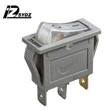 KCD3 3500 W серый лодочного типа переключатель; кулисный переключатель 25x20 мм 15A250V 3-контактный 2-ступенчатый кнопки лодочного типа переключатель