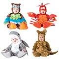 Детский карнавальный костюм на Рождество и Хэллоуин  комбинезон-кенгуру с изображением животных  комплект одежды для девочек и мальчиков  д...