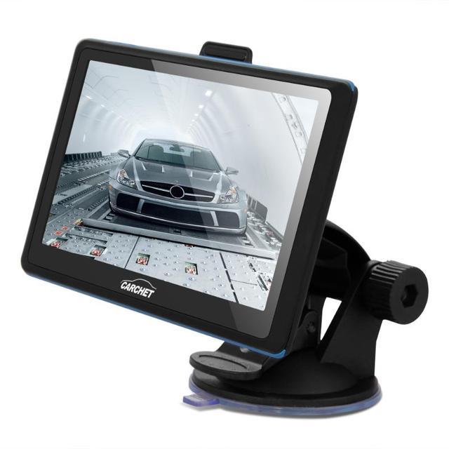 CARCHET 5 Pulgadas Coche Navegador GPS de Navegación 8 GB 128 MB de la Pantalla Táctil MP3 FM 800x480 Chile México américa Canadá Brasil Mapa