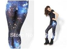 free shipping good quality new women galaxy space  blue sky black milk digital print leggings