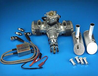 где купить DLE Engine DLE-40cc Twin Gasoline w/ Electronic Ignition DLE-40 For RC Plane по лучшей цене