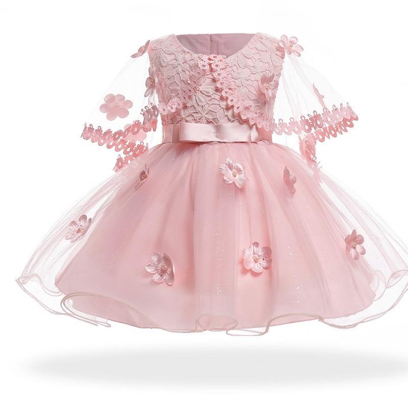 Vestido Neonatal 2019 Summer Baby Girl Dress 0-3Years Girls Birthday Dresses Flower Party Princess Dress Girls Clothes