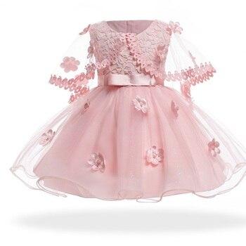 ad3709f3d Vestido recién nacido 2019 verano bebé niña Vestido 0-3años niñas  cumpleaños vestidos flor fiesta