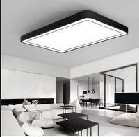 Современные офисные освещения потолочный светильник минималистский прямоугольная светодиодный потолок гостиной свет романтическая спал