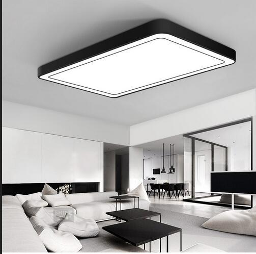 Moderne bureau éclairage Plafonnier minimaliste rectangulaire LED on