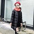 Niños Abajo Chaqueta de Invierno Para Niñas Abrigo de Invierno Parkas Abajo Cubre Estilo Largo Parkas Niños Estudiante Al Aire Libre