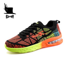 Air Cushion Running Shoes Flywire Men Sneakers Breathable Lightweight Sport Running Shoes Outdoor Jogging Walking Athletic Shoes