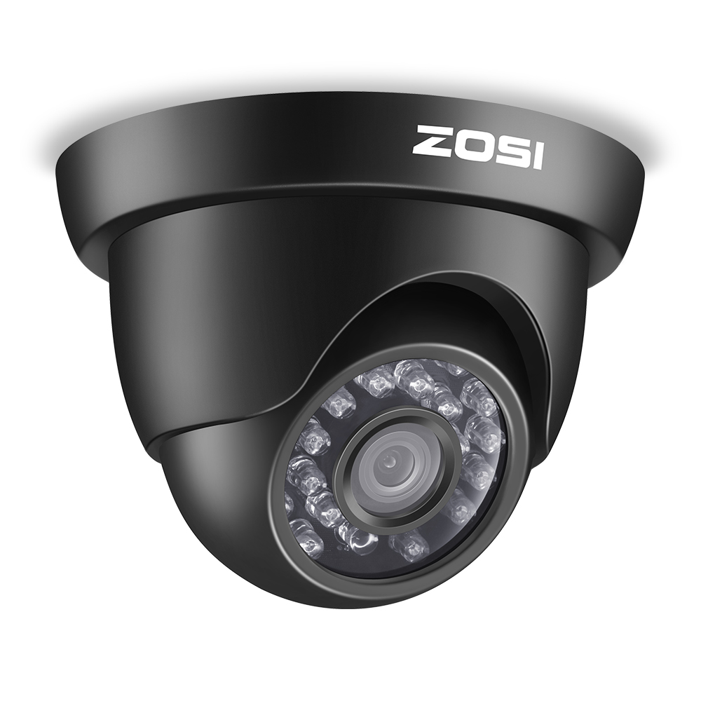 ZOSI HD-TVI 720P 24PCS IR Leds Security Surveillance CCTV Camera Had IR Cut High Resolution Outdoor Weatherproof Camera