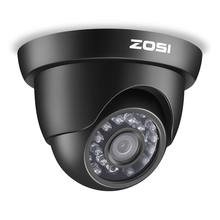ZOSI cámara de vigilancia de seguridad CCTV, LED IR de alta resolución, para exteriores, resistente a la intemperie, HD TVI, 1080P, 24 Uds.
