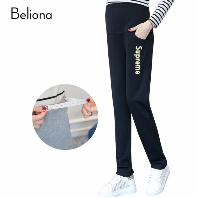 Diseñadores de la marca de Cintura Alta Pantalones de Maternidad Otoño Ropa de Invierno para Las Mujeres Embarazadas Más Tamaño Pantalones Ropa Premama Embarazo