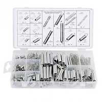 Spring Assortment Set 200 Pieces Zinc Plated Compression Extension Springs for Repairs Coil Spring Tension Spring Pressure Kit