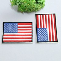12pcs Lot 7 5cm The United States National Flag Embroidery 3D Badge Patch Military Armband Backside