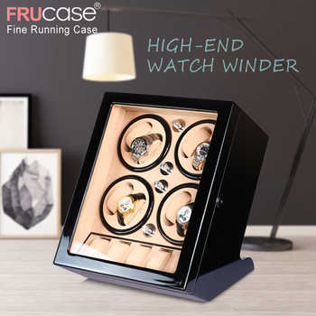 FRUCASE Black high finish Automatic Watch Winder Box AC Power Operated ultra-silence 8+5 - Category 🛒 Watches