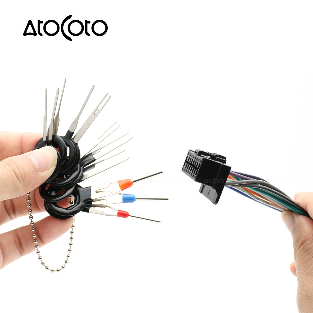 AtoCoto 11pcs 18pcs Car Plug Circuit Board Wire Harness Terminal Removal  Tool Connector Extractor Crimp Release Pin-in Cables, Adapters & Sockets  from ...