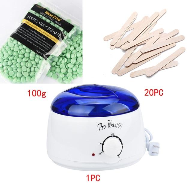 Wax Warmer Machine Kit Electric Hot paraffin Wax Warmer Heater Pot Set With Hard Wax Beans/Wiping Sticks