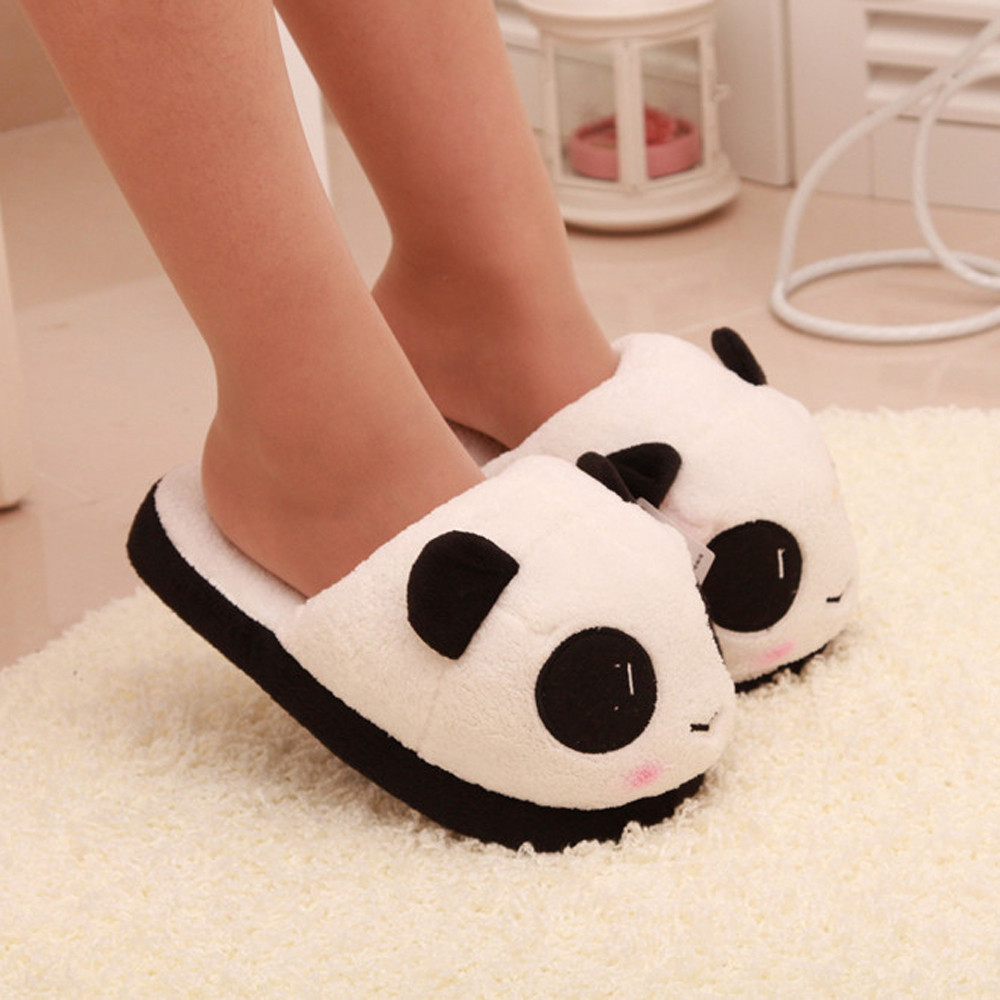 Sleeper #5005 Women Panda Winter Warm Plush Antiskid Indoor Home Slippers for girls cute casualSleeper #5005 Women Panda Winter Warm Plush Antiskid Indoor Home Slippers for girls cute casual