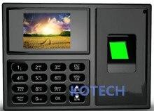 Бесплатная доставка! Часы-Регистратор посещений отпечатков пальцев + TCP/IP + USB с программным обеспечением черного цвета для записи рабочего времени сотрудников
