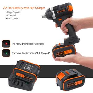 Image 4 - GOXAWEE 21V Cordless Electric Impact Wrench Driver Socket Wrench 4000mAh Lithium Battery Hand Drill Installation Power Tools