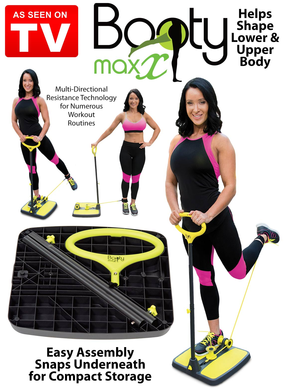 Booty Maxx Highly Targeted Muscle Toning Resistance Moves Multi-Directional Resistance Beach Booty-Made Shapes Lifts Your Booty california exotic booty call booty gliders розовая анальная пробка с виброяйцом