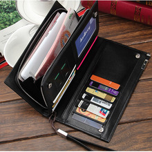 High Quality Leather  Wallets With Zipper