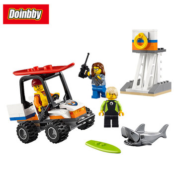 10750 94Pcs City Series Coast Guard Starter Set Building Block Brick Toys Kids Gifts DIY Educational Compatible 60163