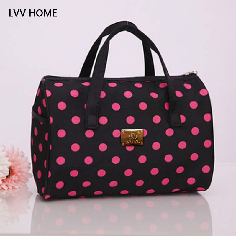 LVV HOME Large-capacity portable travel storage bagoutdoor Round point Women's Cosmetics Storage Bag Mom's Tote handbag