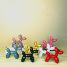 Modern Abstract Resin Craft Balloon Dog Shape Statue Ornaments Home Decoration Accessories Sculpture