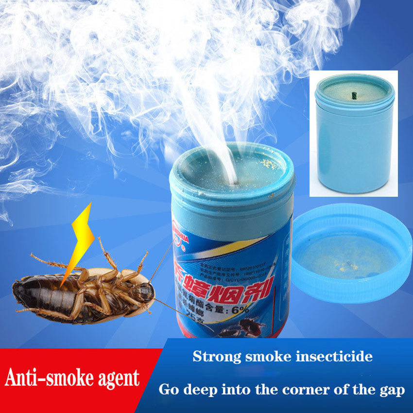 1PCS Effective Cockroach Poison In Tobacco Smoke Insecticides Aromatherapy Cockroach Medicine Smoke Bomb Bait Fray Pest Control
