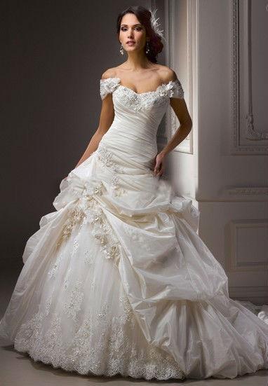 Vestido de novia raso y encaje – Vestidos de moda de esta temporada