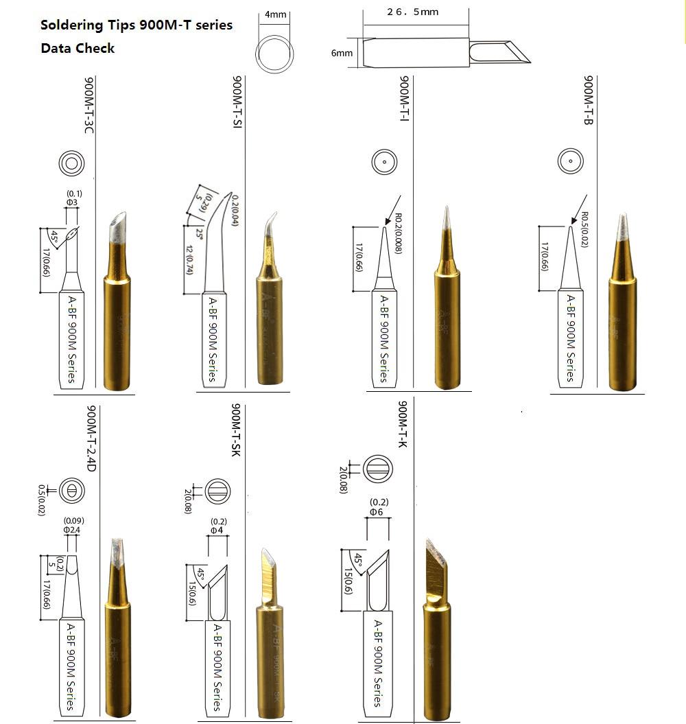 10pcs punte per saldatore 900M standard A-BF punte per saldatura a - Attrezzatura per saldare - Fotografia 5