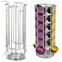 Sweettreats Top Home Solutions Revolving Rotating 24 Capsule Coffee Pod Holder Tower Stand Rack For Dolce Gusto