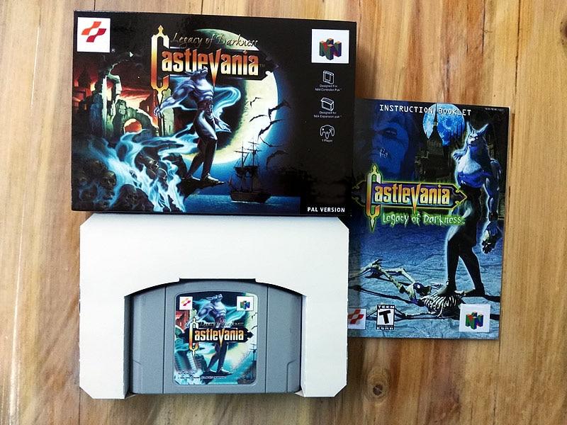 64 Bit Games Castlevania Legacy of Darkness PAL Version box manual cartridge