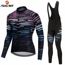 FUALRNY 2019 Long Sleeve Cycling Set Mtb Jersey Bike Wear Clothes Ropa Ciclismo Winter Thermal Fleece Clothing Men