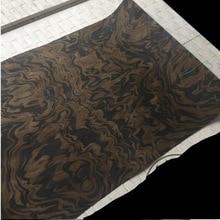 1 قطع طول: 2.5 متر سمك: 0.25 مللي متر العرض: 55 سنتيمتر تكنولوجيا الجوز الأسود شجرة Burl الخشب القشرة