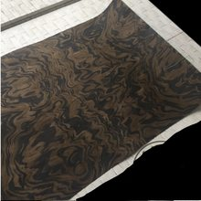 Length: 2.5Meters Thickness:0.25mm Width:60cm Technology Black Walnut Tree Burl Wood Veneer(China)