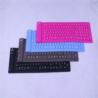 Mini Foldable Flexible Wireless Bluetooth Silicone Keyboard Slim Teclado Soft Universal Gamer Portable Roll Up PC