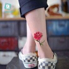 Latest Women Peony Little Flower Tattoo Beauty Tattoo Waterproof Fake Temporary Body Tattoo Sticker Maple Leaf Dandelion