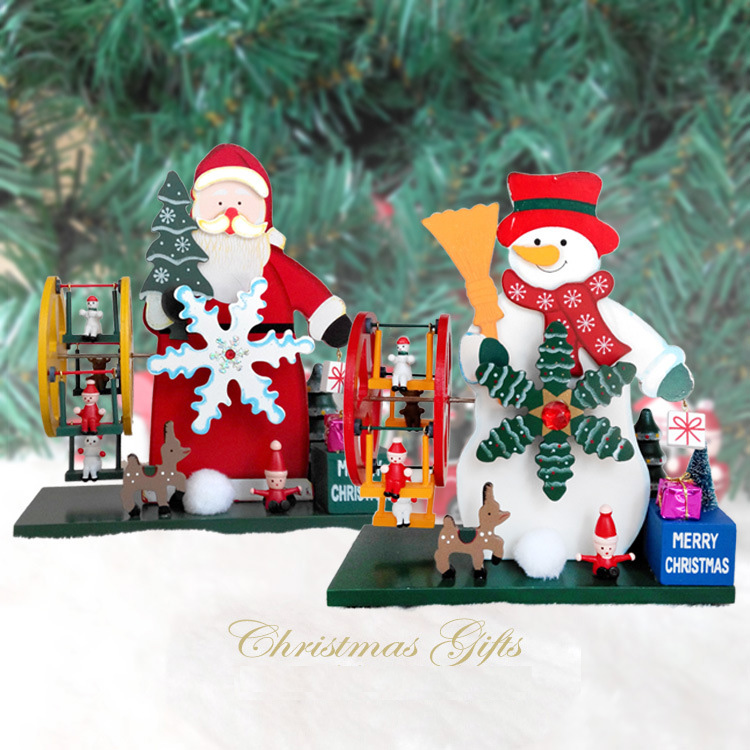 1pc/lot Christmas Decoration For Home Wooden Music Box